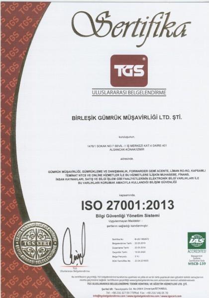 ISO 27001-2013 BİLGİ GÜVENLİĞİ SİSTEMİ-XXX
