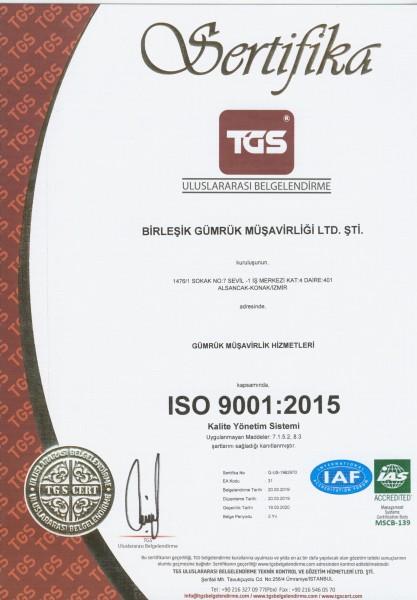ISO 9001-2015 KALİTE YÖNETİM SİSTEMİ