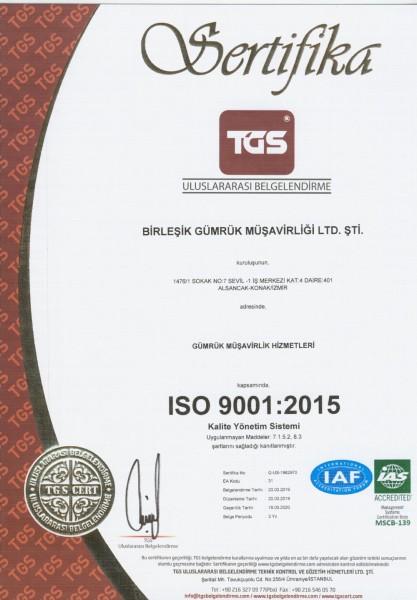ISO 9001-2015 KALİTE YÖNETİM SİSTEMİ-XXX